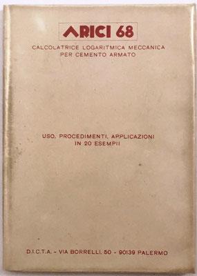 Libro instrucciones para el uso de la ARICI 68,  134 páginas y un lámina en color