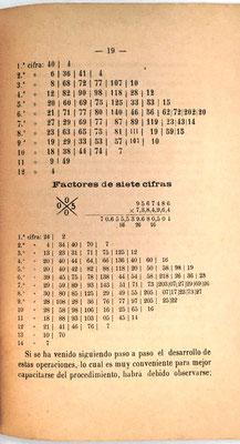 Página 19 del libro: ejemplo de multiplicación de dos factores de siete cifras cada uno