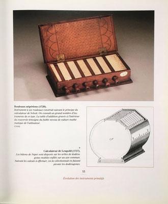 Rodillos neperianos de Gaspar Schott (1720) y aparato equivalente de Leupold (1727)