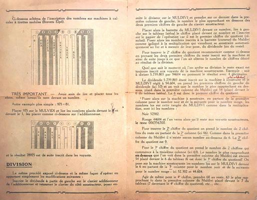 Instrucciones para el uso correcto del aparato combinado MULDIVI-ADDIATOR:  páginas 2 y 3