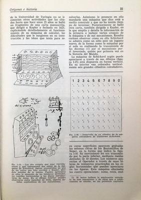 La Calculadora de Schickard (Reloj Calculador) y un dibujo para construir un rodillo neperiano con 10 caras