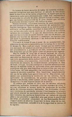 El prologo de José Osés Larumbe se elimina la referencia a la máquina PAUTA TRANSMISIVA DE LOS NÚMEROS