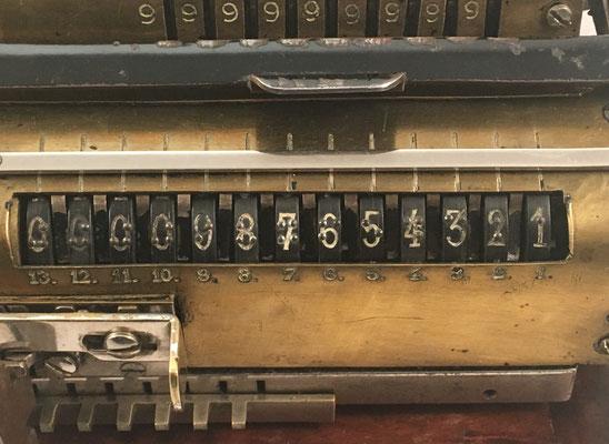 Cifras en la ventana de resultados con numeración braille