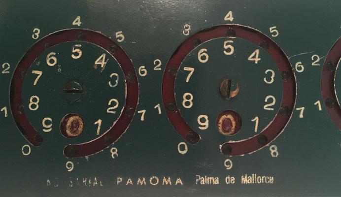 Detalle de la calculadora PAMOMA, parte central
