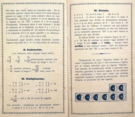 Instrucciones para niños mayores (sustracción, multiplicación y división)