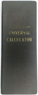 Libro de multiplicaciones UNIVERSAL CALCULATOR, ejemplar nº 16926, Jean Bergmann, año 1923, 15x40 cm