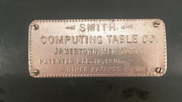 Detalle de la placa del cilindro SMITH