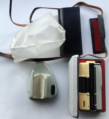 ALPINA: conjunto de calculadora, estuche, funda y soporte para sobremesa