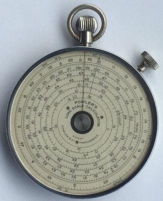 FOWLER'S Long Scale Calculator, Manchester, 6,5 cm diámetro