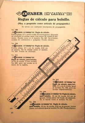 Página dedicada a presentar los modelos 396, 338, 311, 313, 314 y 316 que se ofertaban para confeccionar regalos de empresa de publicidad y propaganda