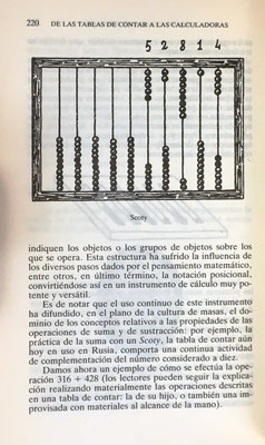 El ábaco (o tabla de contar) ruso Scoty utilizado fundamentalmente para efectuar sumas