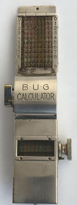 Abaco de cadena BUG (Bergmann Universal Gesellschaft), s/n 2764, año 1922, Berlín, 20x5x3 cm