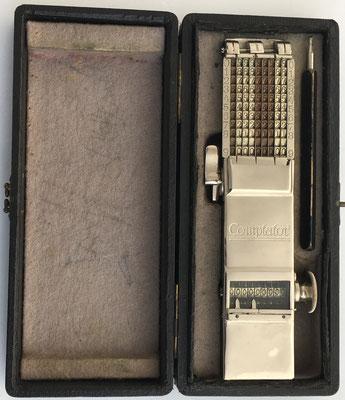 Abaco de cadena COMPTATOR A9, s/n 13158, año 1908, Alemania, 20x5x3 cm