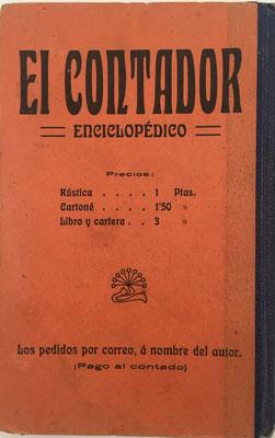 Contraportada del Contador Enciclopédico,  D. Joaquín Pascual Soler, año 1910