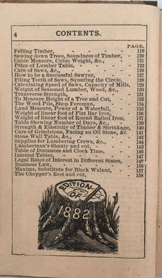 Segunda página del índice del libro