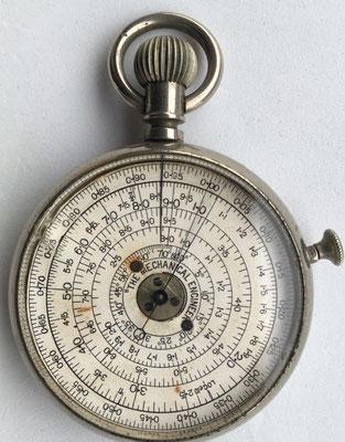 THE MECHANICAL ENGINEER pocket calculator, año 1900, 5 cm diámetro