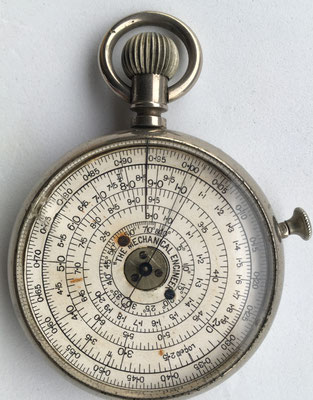 THE MECHANICAL ENGINEER pocket calculator, año 1900, 5 cm diámetro,  (precio estimado: 200€)