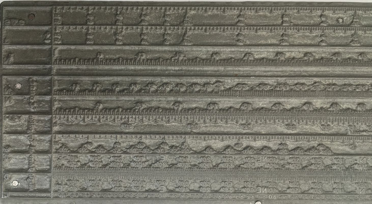 Detalle A del Cliché plano de metal  para tinta