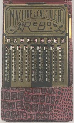 Ábaco de ranuras RéBo, fabricado por S. Reybaud, ingénieur, en Marsella (Francia), año 1920, 9x14 cm