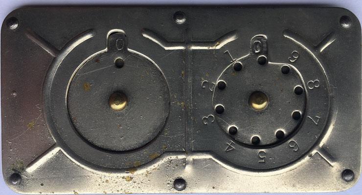 Versión del original inventado por Archibald M. Stephenson. En reverso: CIN SPECIALTY MGF. CO. M'F''RS. Cincinnati (OH., USA), año 1899, 9x4.5 cm