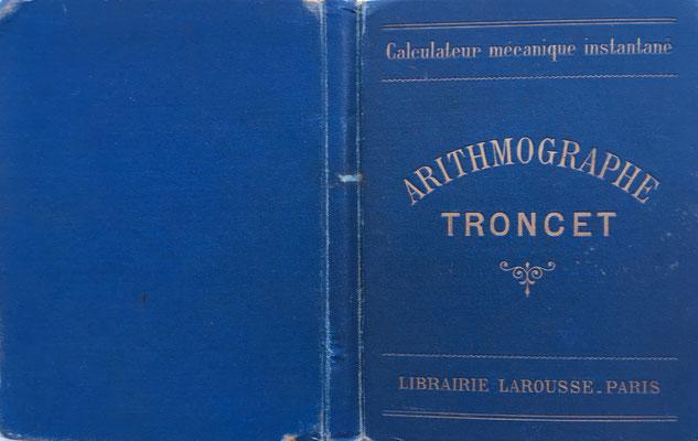 Tapas del ábaco TRONCET. El ábaco fue presentado en la Exp. Universal de París en 1889