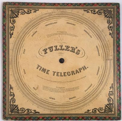 Reverso con FULLER'S Time Telegraph de John E. Fuller, Massachusetts año 1945