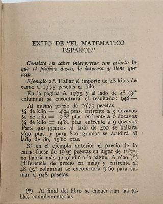 El libro EL MATEMÁTICO ESPAÑOL de Cuentas Ajustadas contiene las instrucciones para su uso