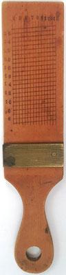 Paleta transportador, sin nombre, se utiliza junto con el Sector para navegación y realización de cálculos para aumentar la precisión de medidas, 15x3.5 cm