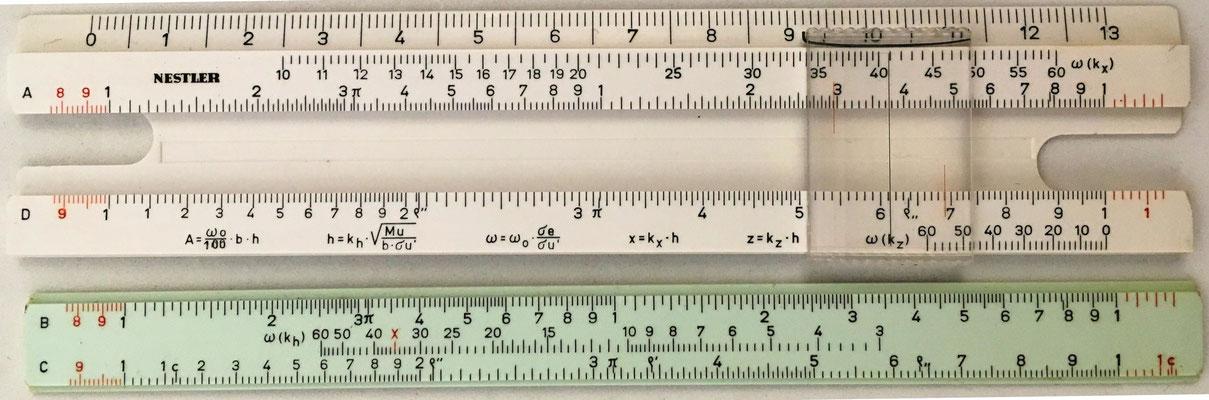 Regla obsequio de Aceros REA, marca Nestler para hormigón armado, 15x3 cm