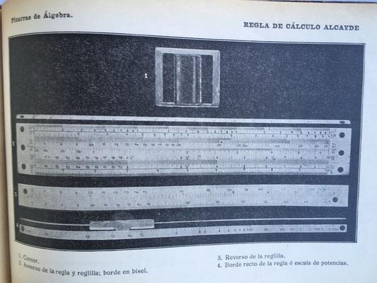 La explicación sobre la Regla de Cálculo ALCAYDE va desde la página 134 a la 165 del libro