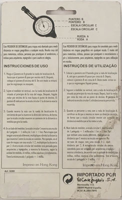 Instrucciones de uso para el opisómetro ART. Nº 9280, fabricado en Hong Kong