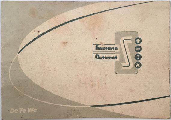 Manual de instrucciones de la calculadora HAMANN Automat S DeTeWe