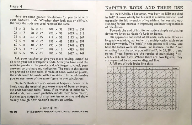 Folleto de instrucciones para NAPIER'S ROODS Scholar's Edition: páginas 4 y 1