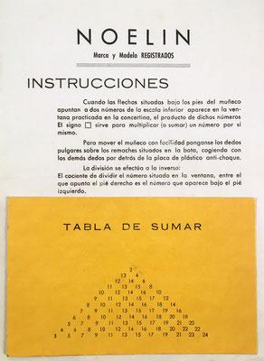 Instrucciones y lámina de complemento para la suma
