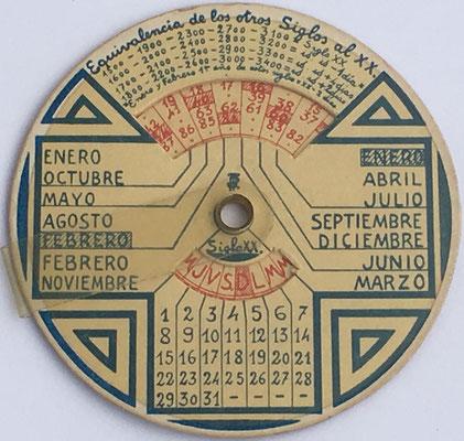 Reverso del círculo de cálculo CIRCUNFERENCIA CALCULADORA, grande