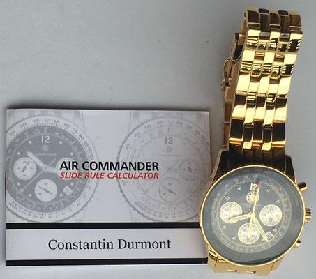 """Instrucciones air commander """"CONSTANTIN DURMONT"""", nº serie 7641"""