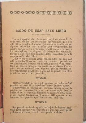 Instrucciones de uso para las tablas de El Contador Universal, Es la 5ª edición del libro de 1906
