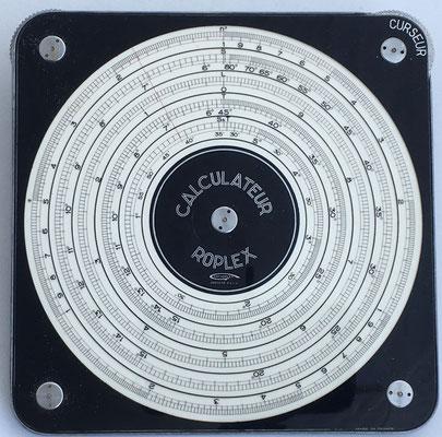 Calculateur ROPLEX Graphoplex, año 1960, 12 cm diámetro