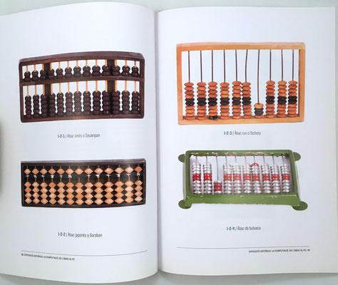 Páginas 16 y 17 del catálogo: ábacos chino, japonés y ruso