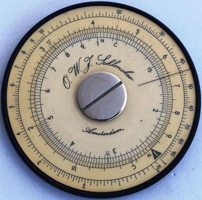 Regla O. W. J. SCHLENCKER, 6 cm diámetro