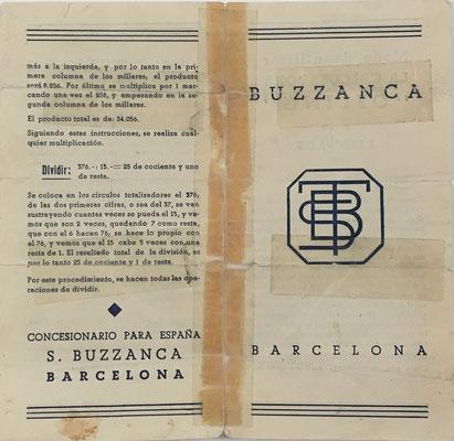 Instrucciones de uso para el ábaco de ranuras OFLING, en español