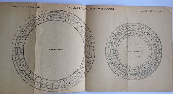 La lámina 3 corresponde al círculo logarítmico Ruiz Amado