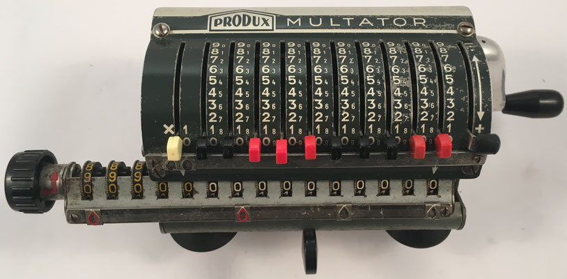 Produx MULTATOR I, fabricada por Meuter & Sohn, Berlin y Hamburg (Alemania), s/n 10371, año 1954, 25x12x9 cm