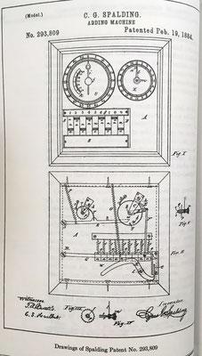 Sumadora de Cyrus G. Spalding, patente del año 1884