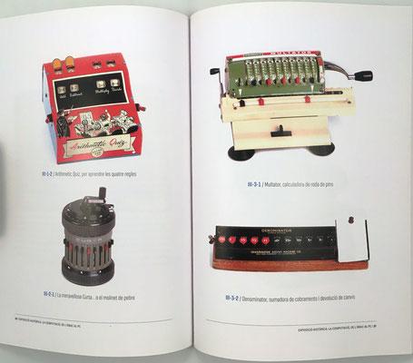 Páginas 30 y 31 del catálogo: calculadoras mecánicas