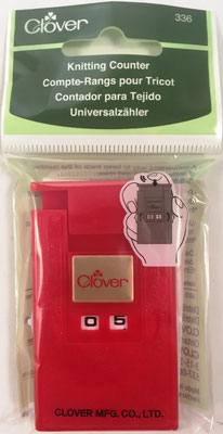 Contador para tejido CLOVER art. 336, fabricado por Clover Manutacturing Company LTD en Osaka (Japón),  4x7 cm