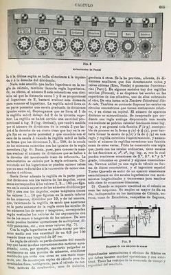 Dibujo del aritmómetro de Blaise Pascal