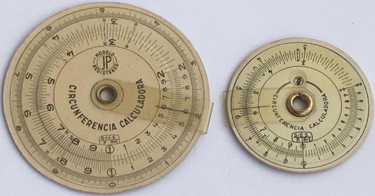 Comparación anversos de los dos modelos de CIRCUNFERENCIA CALCULADORA