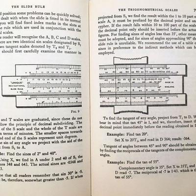 Ilustración de la regla de cálculo lineal Unique Navigational