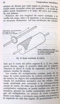 La rueda escalonada de Leibniz es el elemento característico y fundamental de su máquina de 1671